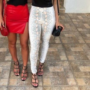 Pretty Little Thing Snakeskin Leggings